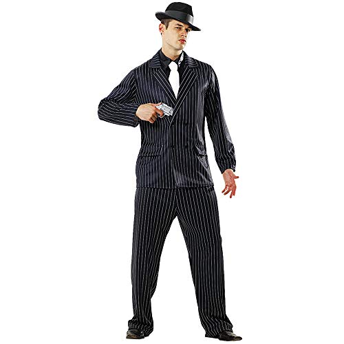 Deluxe Mens 1930s Gangster Costume - Great for Parties! (XL) Black -
