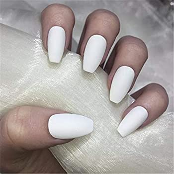 Amazon.com : BloomingBoom False Nail Coffin 24 Pcs 12 Size ...