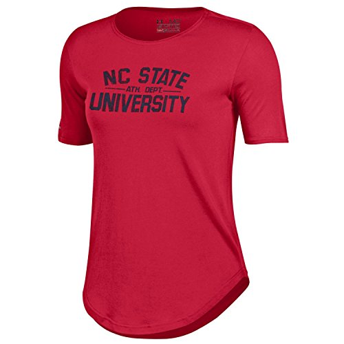 NCAA North Carolina State Wolfpack Women's 60 40 Tee, Red, Large