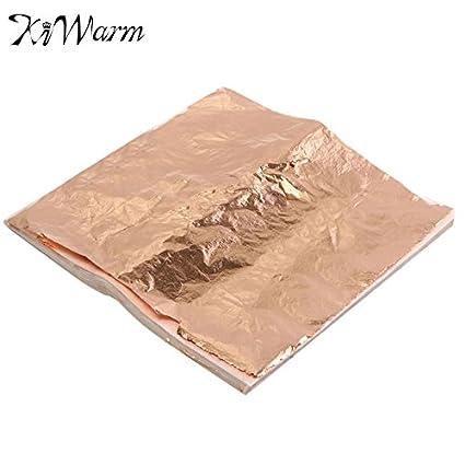 Amazon Com Zilzol 100sheets Set Purple Gold Copper Leaf Foil Paper