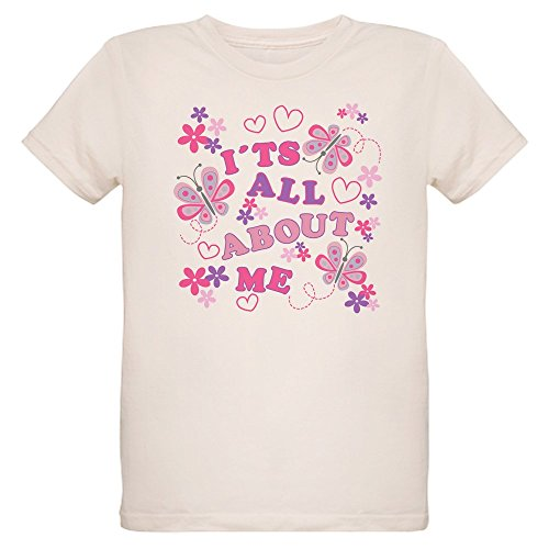- Royal Lion Organic Kids T-Shirt Pink Butterflies It's All About Me - Medium (10 Yrs)