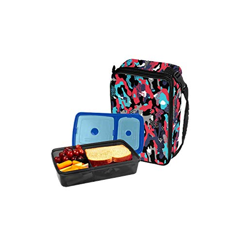 (Fit & Fresh Bento Lunch Set, Red Jungle Camo)