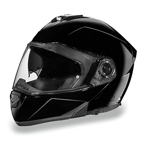 Gloss Black Bluetooth Ready Modular Motorcycle Helmet (Size 4XL, (Gloss Black Modular Helmet)