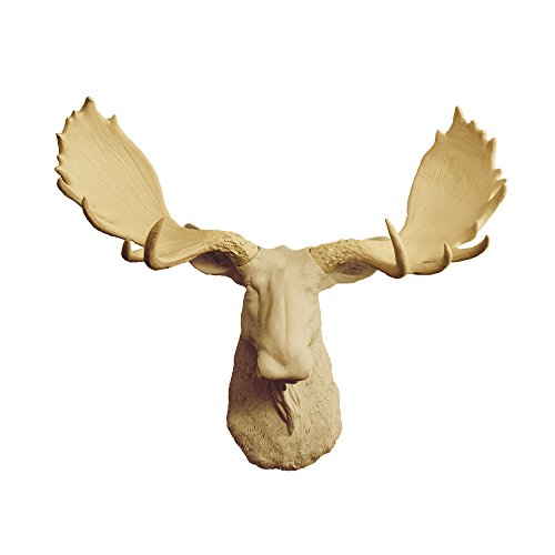 Cheap Wall Charmers Large Faux Moose Head The Alberta Room Decor Wall Art| Hand Finished Home Decor, Farmhouse Decor Bedroom Decor Bathroom Decor Office Decor Rustic Wall Decor Accents, Khaki