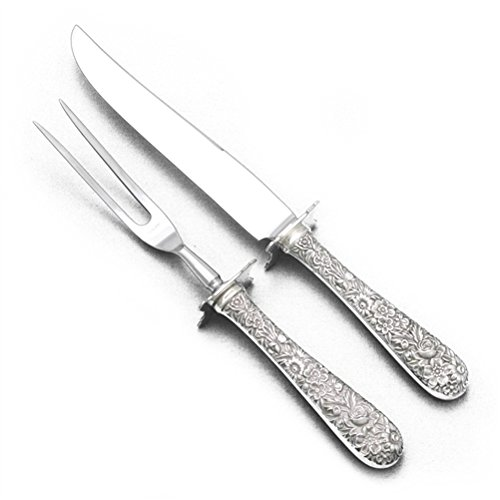 (Repousse by Kirk, Sterling Carving Fork & Knife, Steak)