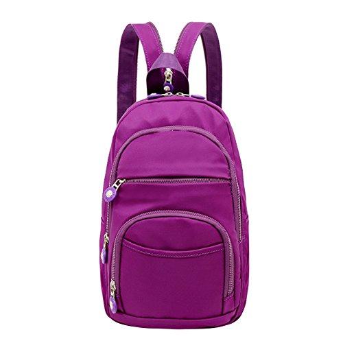 Mochila pequeña/Mochila de nylon/Pecho casual Mini Pack mochila/[bolsas de tela]/Bolsa de viaje-A A