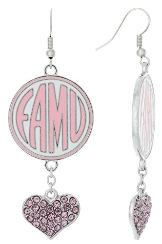 Special Edition FAMU Love Pink Collection Dangle Earrings - Famu Heart