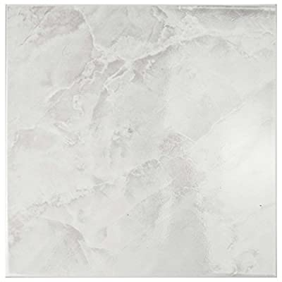 "SomerTile FTC12GWH Sigma Ceramic Floor and Wall Tile, 11.75"" x 11.75"", White"