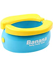 Happytime Potty Training Seat Cute Banana Toilet Seat Trainer Portable Foldable Potty for Kids Boys Girls Children Toddlers