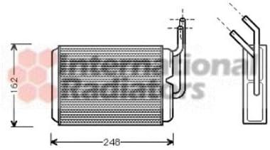 Interior Heating Van Wezel 43006220 Heat Exchanger