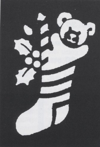 Costumes For All Occasions Fp62 Stencil Stocking Bear Brass (Bear Stocking Stencil)