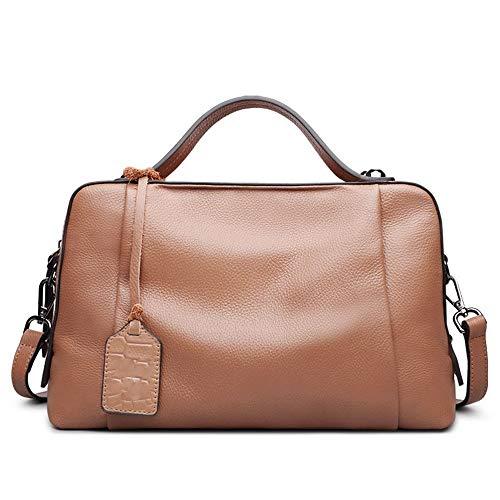 strato Memoria Pacchetto grande del di capienza donne del cuoio del dello traco Marrone Borse a spalla cuscino femminile delle della sacchetto litchi diagonale borsa del superiore modello femminile di della 1tq7r1