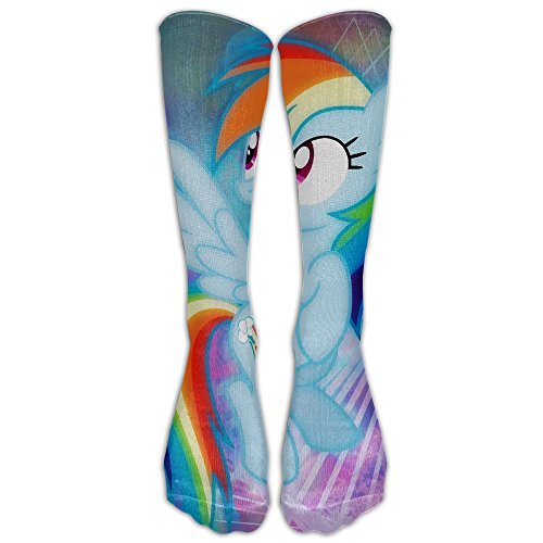 My Little Pony Long Socks Knee Soccer Socks For Men And Women - Running & Fitness - Best Medical, Nursing, Travel & Flight Socks