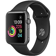 New Apple Watch Series 1 38mm Smartwatch (Space Gray Aluminum Case, Black Sport Band)