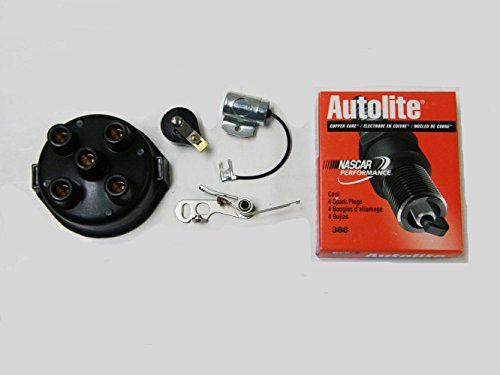 Delco Tune - MTK1DCR Ignition Master Tune Up Kit for Allis Chalmers John Deere Massey Ferguson and Case IH Tractors - 4 Cyl with Delco Distributors Only