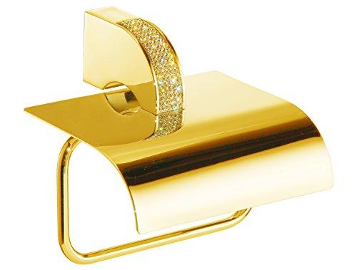 Secret Bath Cecilia luxury gold Swarovski crystals toilet paper holder, Limited edition by Secret Bath (Image #1)