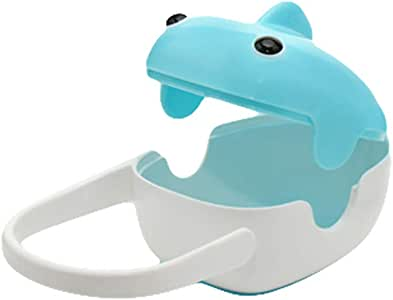 eroute66 Pacifier Holder Storage Case Infant Soother Box Portable Whale Design Baby Care Blue