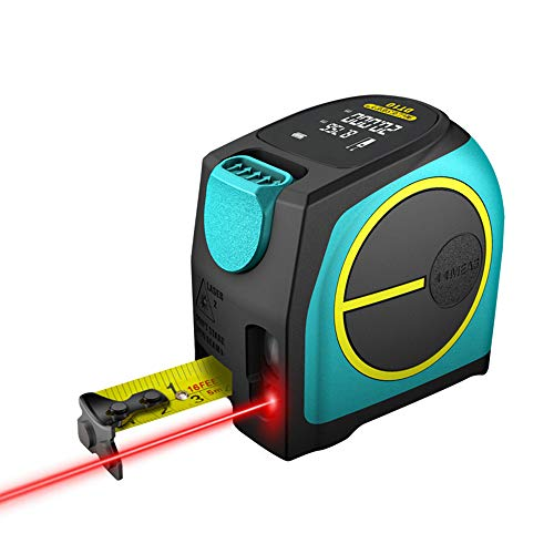 Laser Tape Measure 2-In-1,131 Feet Laser Measure,16 Feet Steel Tape,Large Lcd Digital Display with Feet/Inch/Metric Unit,Rechargeable Polymer Lithium Battery(DT-10)