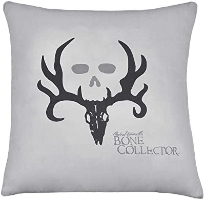 Bone Collector Square Pillow, Grey