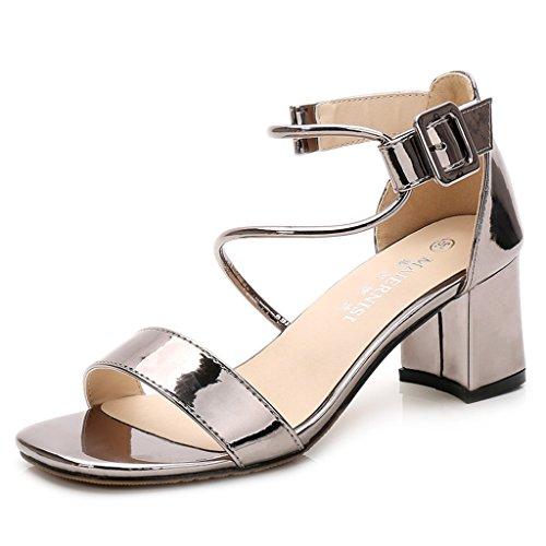 投資する受け皿舌Beautiful DS 新しいヨーロッパスタイルのファッション粗い厚いハイヒールのサンダルセクシーなトレンディな快適な女性の靴宴会ブライダルシューズ結婚式