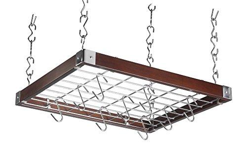 Hahn Trading  50293 Decken-Hängeregal, quadratisch, Holz, espressofarben