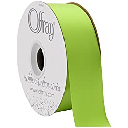 "Berwick Offray 1.5"" Double Face Satin Ribbon, New Chartreuse Green, 50 Yds"