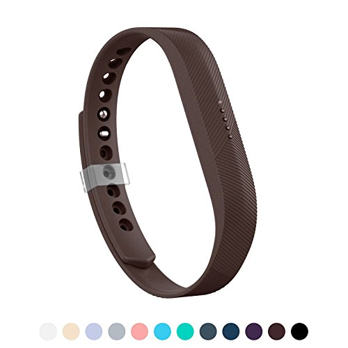 Blush Coffee (LEEFOX Band for Fitbit Flex 2, Adjustable Fit Bit Flex 2 Accessory Silicon Replacement Wristband w/Fastener Clasp Fitness Strap for Original Flex 2, Coffee, Large(Psalm 23-3))