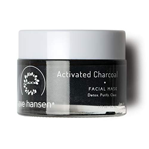 Eve Hansen Activated Charcoal Bentonite Clay Face Mask | Detoxifying Charcoal Mask with Dead Sea Mud | Kaolin Clay Blackhead Remover Mask, Acne Scar Treatment and Pore Minimizer Facial Mask | 1.7 oz