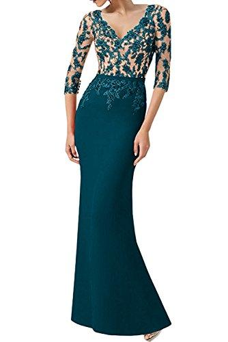 Spitze Neck Inkblau Neu Glamour Mutterkleider V Lang Ballkleider Abendmode Ivydressing qTw4xICO