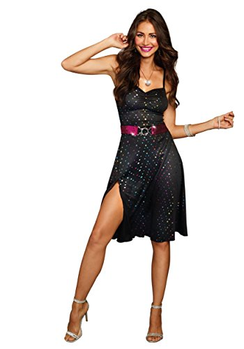 Dreamgirl Women's Disco Diva, Black, X-Large by Dreamgirl