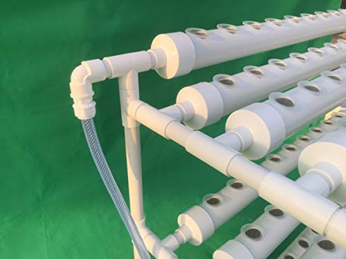 LAPOND Hydroponic Grow Kit,3 Layers 90 Plant Sites PVC Pipe Hydroponics 10 Pipes Hydroponics Growing System Water Culture Garden Plant System for Leafy Vegetables by LAPOND (Image #1)