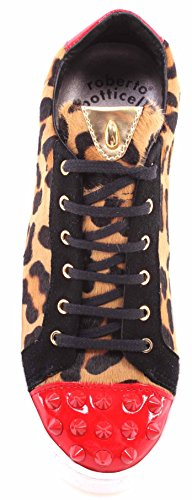 Gold Chaussure New Leopard Roberto Femmes Pony It Limited Botticelli Sneakers fw0CqCa