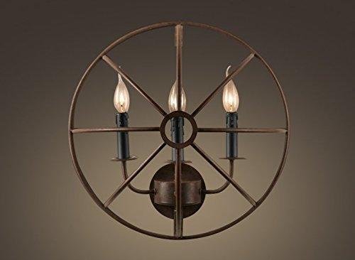 Vento industriali vintage color ruggine lampada salotto sala da