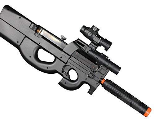 Well D90H P90 STYLE FULL AUTO ELECTRIC AIRSOFT ELECTRIC RIFLE WITH A TARGET AND OTHER ACCESSORIES (Best P90 Airsoft Gun)