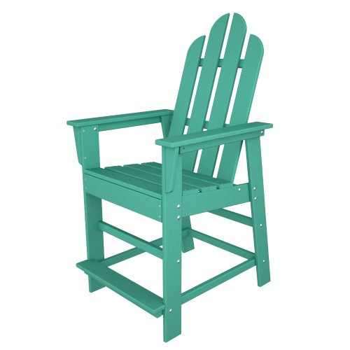 POLYWOOD ECD24AR Long Island Counter Chair, - Island Chair Height Long Counter