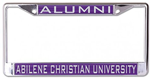 WinCraft Abilene Christian University Alumni License Plate Frame, Metal with Inlaid Acrylic, 2 Mount Holes, Purple