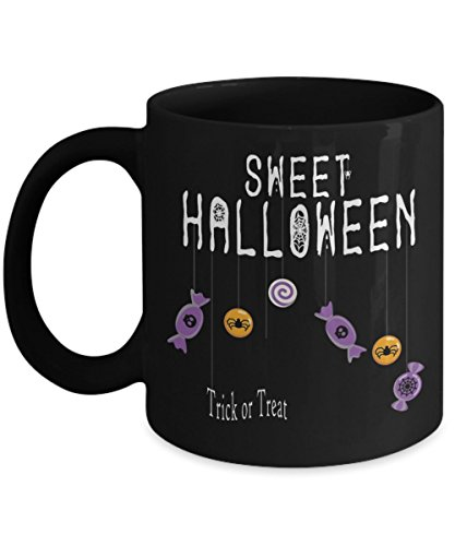 Sweet Halloween Trick or Treat - Funny Happy Halloween Day Coffee Mug Gift Coffee Cup Mugs - Halloween Great Gifts Idea for Men, Women, Kids, Mom, Dad -