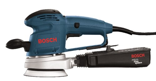 (Bosch 3.3 Amp 5-Inch Random Orbit Variable Speed Sander with Dust Canister 3725DEVS)