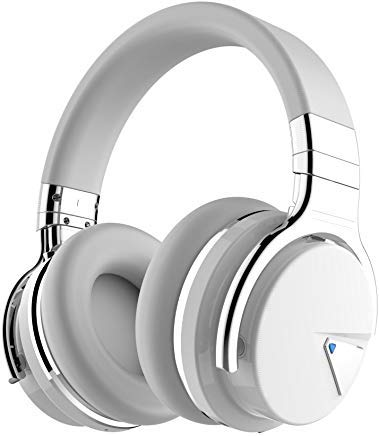 COWIN E7 Active Noise Cancelling Bluetooth Headphones with Microphone Deep Bass Wireless Headphones Over ...