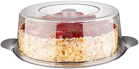 APS 65 - Bandeja para tartas (acero inoxidable, con cubierta de poliestireno, 30 x 11 cm, 1 tapa)