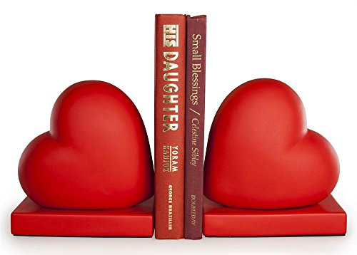 Red Hearts Bookend - Set of 2