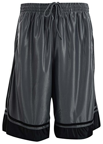 fan products of ChoiceApparel® Mens Two Tone Training/Basketball Shorts With Pockets (S up To 4XL) (XL, Charcoal)