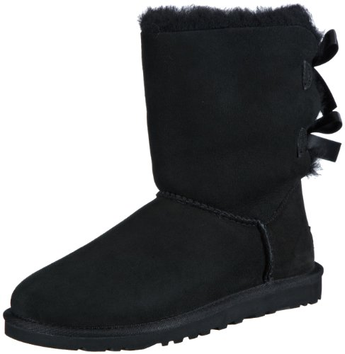UGG Women's Bailey Bow Black 6 B - Medium by UGG