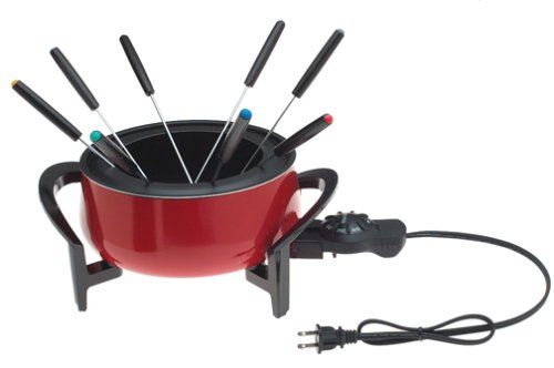 West Bend 88003 The Entertainer 3-Quart Electric Fondue Pot With 8 Forks