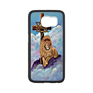 Fggcc Lion Cross Pattern Case for SamSung Galaxy S6,Lion Cross S6 Phone Case