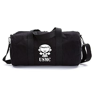 2d6c6fad1c49 free shipping USMC Semper Fi Skull Marine Corp Sport Heavyweight Canvas  Duffel Bag