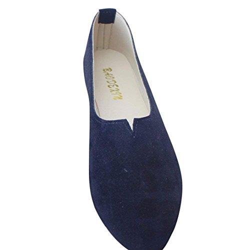 de Azul Sintética Mujer Negro Moda Zapatos Bailarinas y Verano Básicas Elegancia Piel Planos Plataforma 7fHqYw