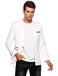 COOFANDY Men's One-Button Slim Fit Business Suit Blazers Casual Suit Jacket