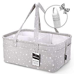 StarHug Baby Diaper Caddy Organizer – Baby Shower Basket   Large Nursery Storage Bin for Changing Table   Car Travel…