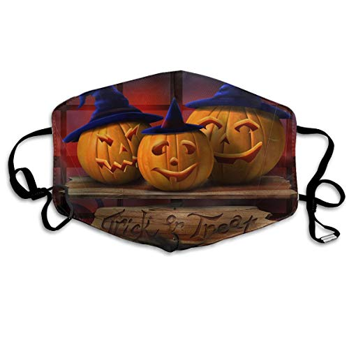 Halloween Trick Or Treat Pumpkins Mouth Mask Unisex Dust Protecting Mask Reusable Mask for Men and Women -